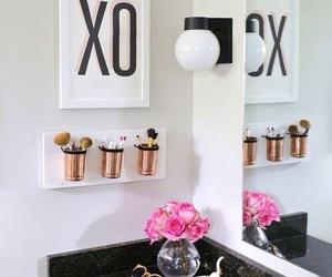 bathroom, girl, and gold image