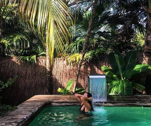 summer, pool, and shay mitchell image