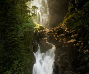 beautiful, new zealand, and waterfall image