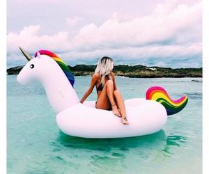 unicorn, girl, and summer image