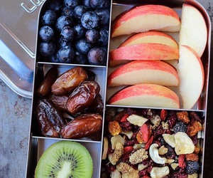 blueberry, apple, and food image