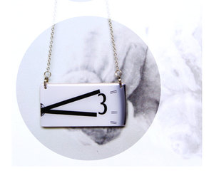 clock necklace, wooden necklaces, and picture necklace image