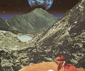 Collage, moon, and art image