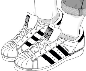 adidas, outline, and shoes image