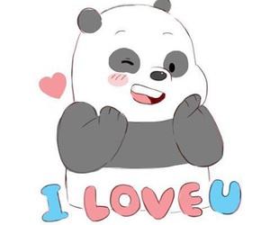 cartoon, cute, and panda image