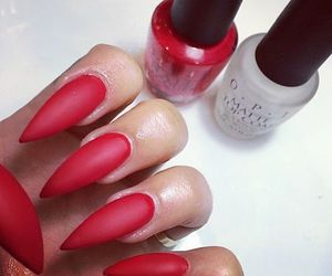 matte and red image