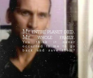 doctor who, sad, and ninth doctor image