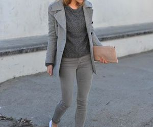 outfit, style, and gray image