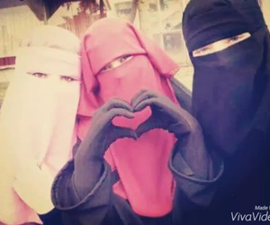 niqab, islam, and hijab image