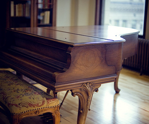 brown and piano image
