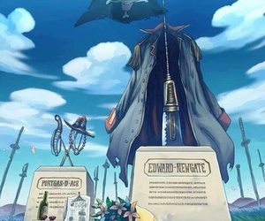 one piece, ace, and death image