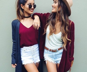 fashion, friends, and outfit image