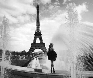black-and-white, girl, and paris image