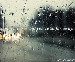 avenged sevenfold, quote, and rain image
