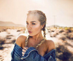 girl, braid, and fashion image