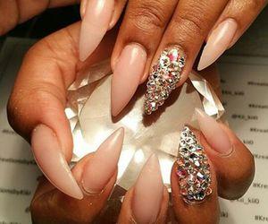 nails, nail art, and stiletto nails image