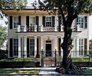 classic, colonial, and house image
