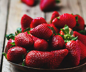strawberry, fruit, and food image
