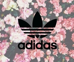 background, adidas, and flowers image