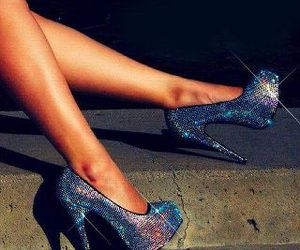 bling, heel, and shoes image