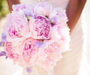bride, pink, and wedding bouquet image