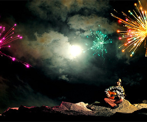 fireworks, photography, and boy image