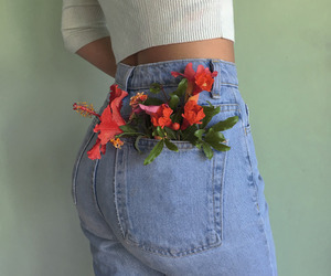 clothes, fashion, and flowers image