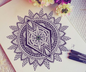 draw, drawing, and flores image
