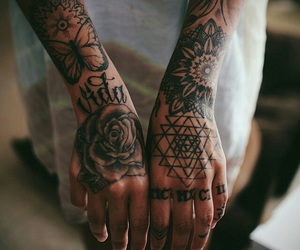 tattoo and hands image