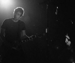 black and white, sounds live feels live, and cool image