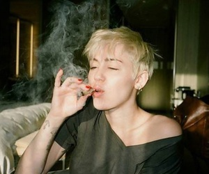 miley cyrus, miley, and smoke image