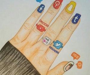 draw, facebook, and nail image