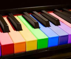 color, music, and piano image