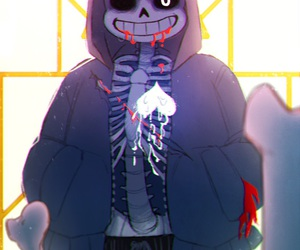 sans, soul, and undertale image