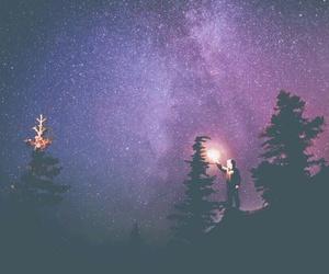 galaxy, milky way, and stars image