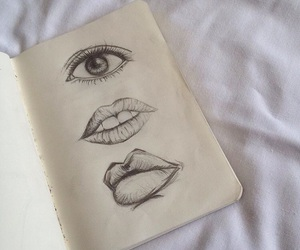 art, lips, and draw image