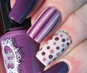 nails, purple, and dots image