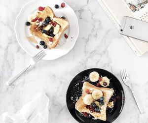 food, breakfast, and fruit image