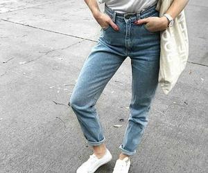 fashion, girl, and high waist image