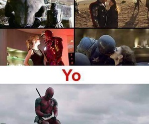 love, deadpool, and funny image