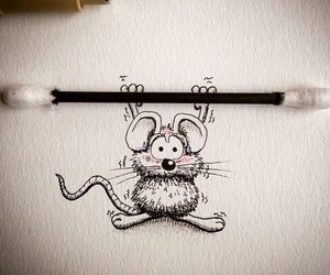 drawing, little, and mouse image