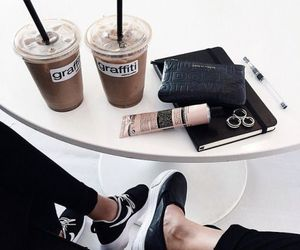 coffee, black, and shoes image