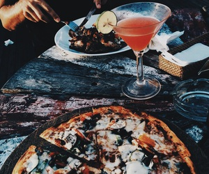blue, orange, and pizza image