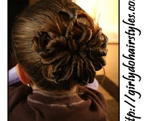 hairstyles and flower bun image