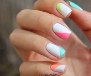 colorful, manicure, and nail polish image