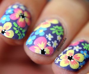 design, flowers, and mani image