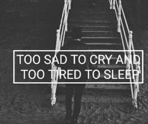 sad, cry, and sleep image