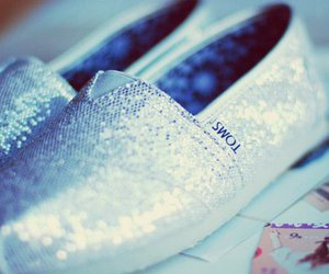 shoes, toms, and glitter image