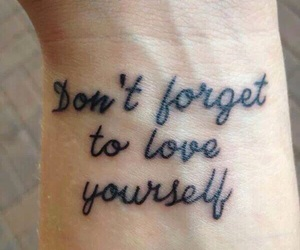 tattoo, love, and yourself image