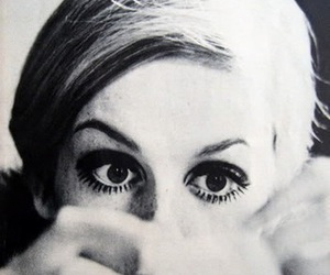twiggy, black and white, and eyes image